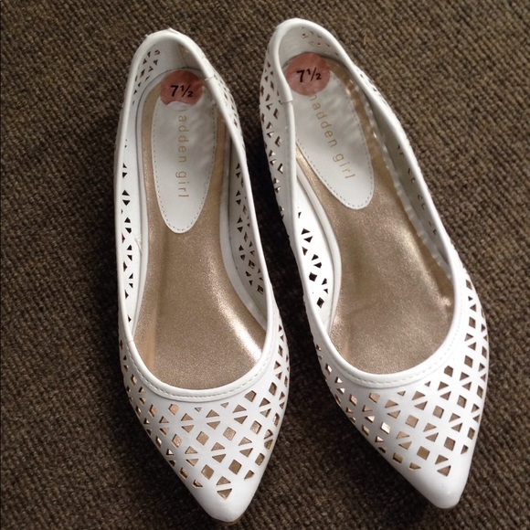 452b905301a Madden Girl Shoes - Madden Girl white laser cut flats